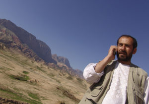 afghan phone user